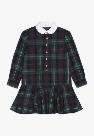DRESS - Shirt dress - navy/green/multi