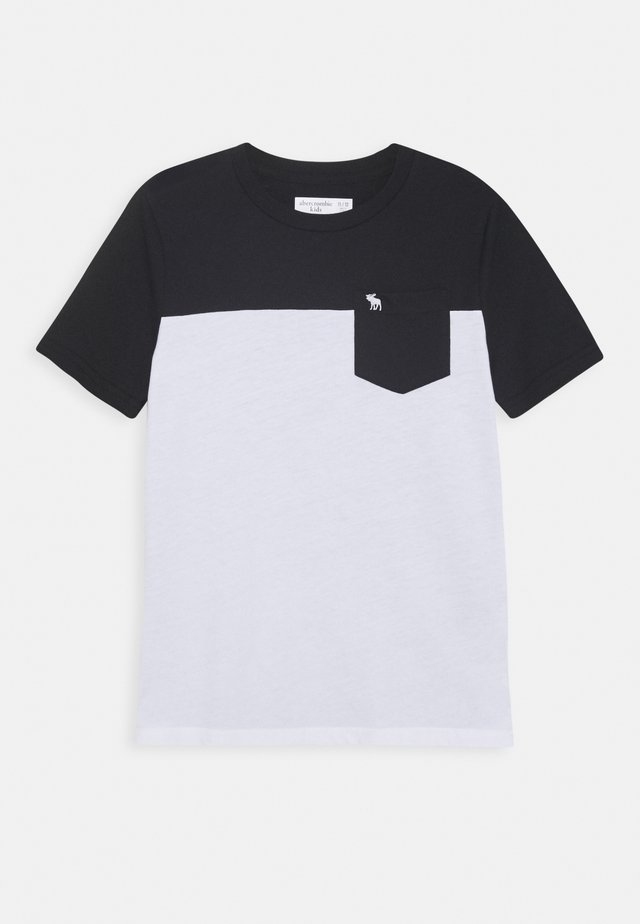 NOVELTY BASIC - Print T-shirt - black/white