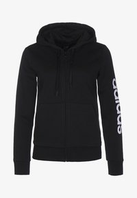 adidas Performance - ESSENTIALS - Sudadera con cremallera - black / white - 0