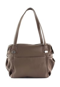 JETTE - Handbag - truffle / shiny silver - 4