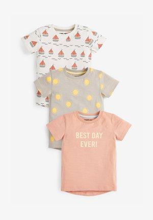 3 PACK  - T-shirt print - pink