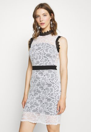FULL MIDI DRESS - Sukienka koktajlowa - white/black