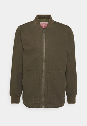 HUNTERS POINT WORKER - Giacca di jeans - olive night