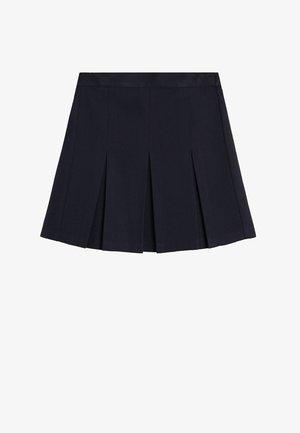 NASTYA7-S - Pleated skirt - bleu marine foncé