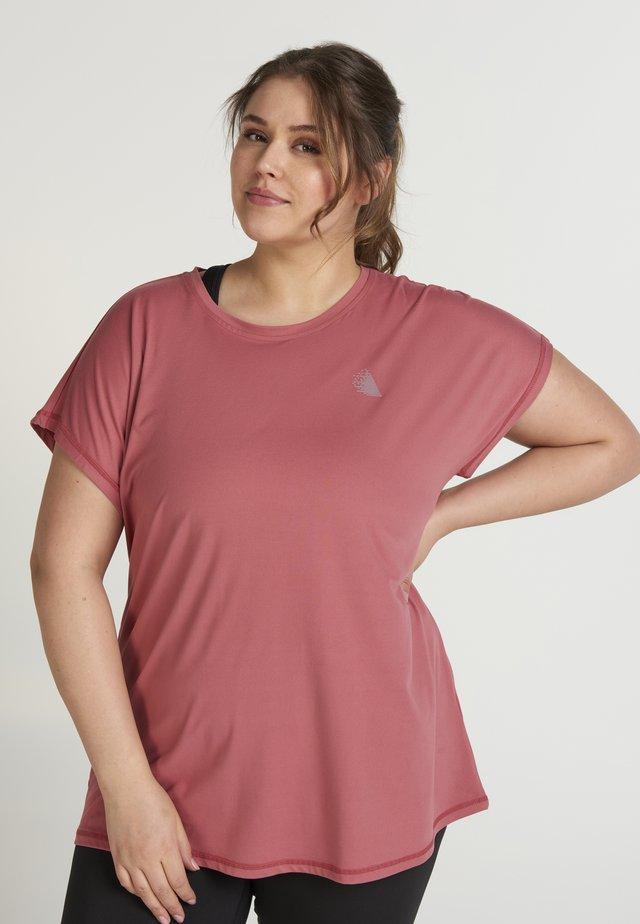 T-shirt - bas - salmon