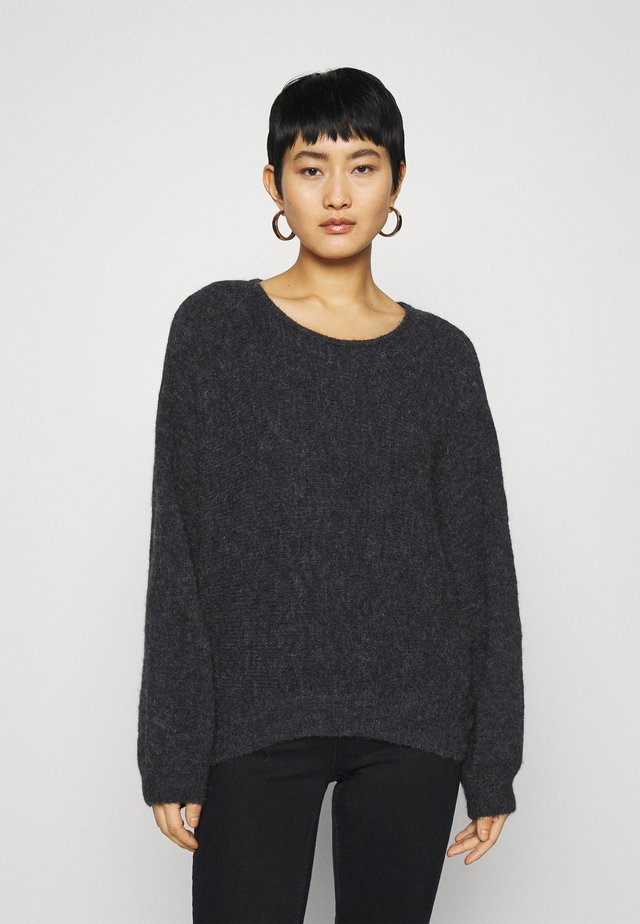 EAST - Pullover - anthracite chine