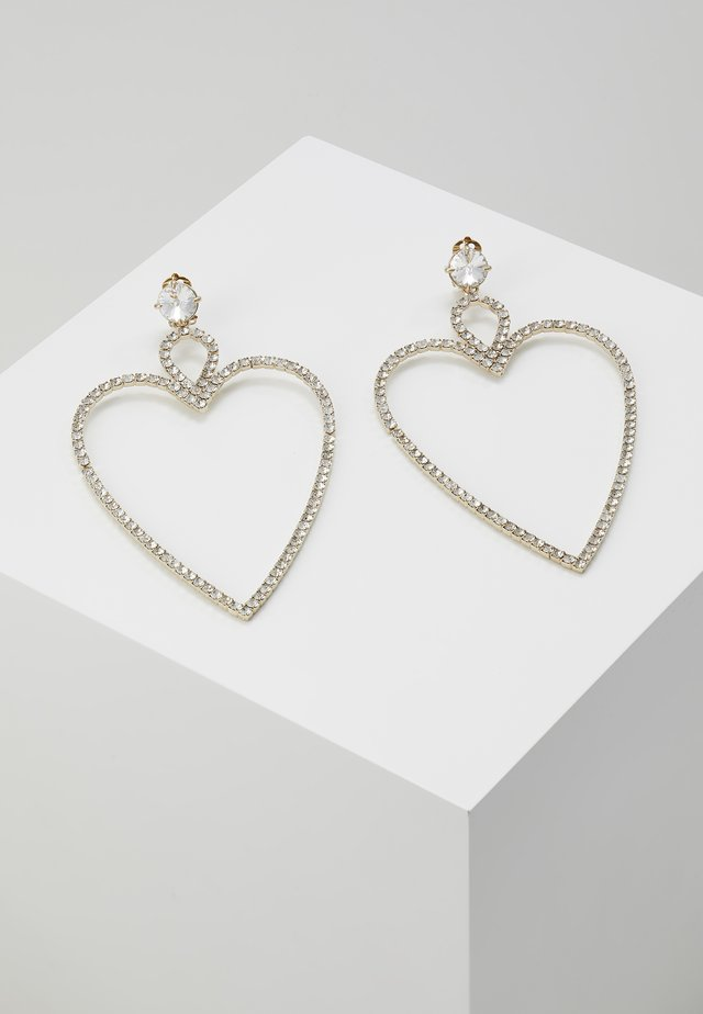 BIG HEART EARRINGS - Øreringe - gold-coloured