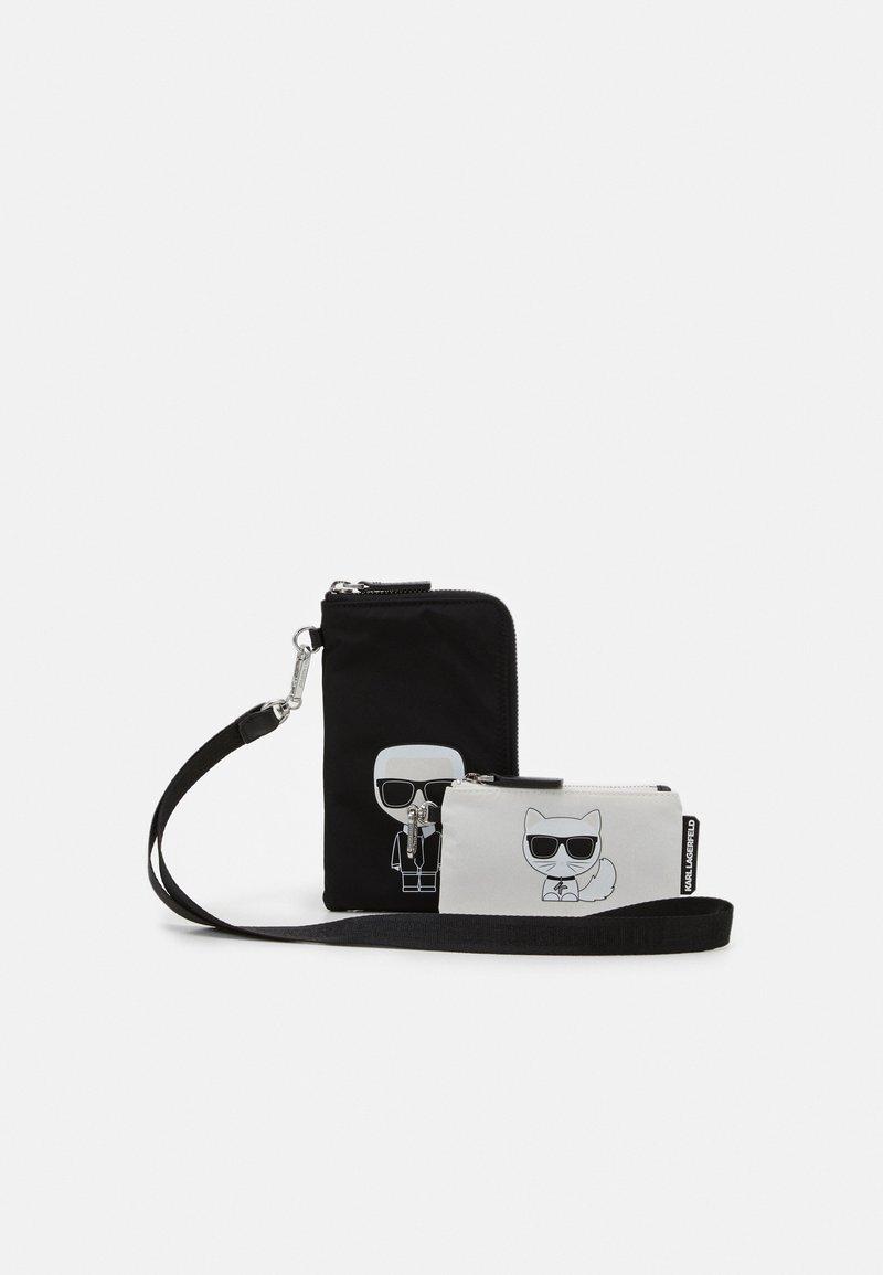 KARL LAGERFELD - IKONIK DOUBLE POUCH - Across body bag - black