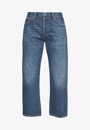 EMERY HIGH RISE RELAXED CROP - Bootcut jeans - dark-blue denim