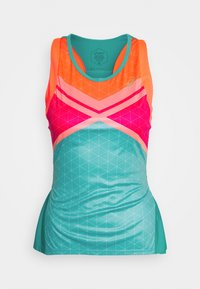 ASICS - TENNIS TANK - Sports shirt - techno cyan - 1