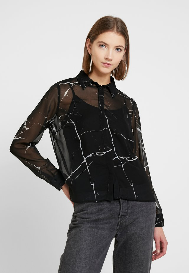 NMMIA MARBLE - Button-down blouse - black