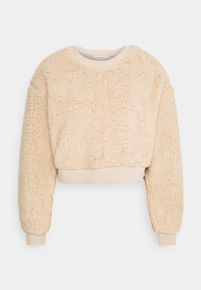 CROPPED SWEATSHIRT - Felpa - tan