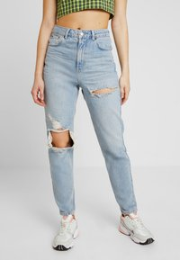 Topshop - Jeans Relaxed Fit - bleached denim - 0