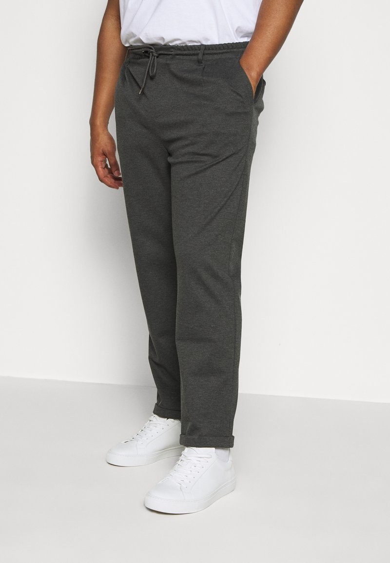 INDICODE JEANS - EBERLEINPLUS - Trousers - charcoal mix