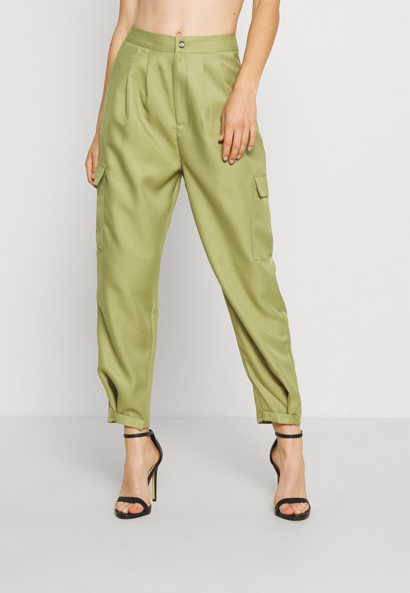 Missguided - BALLOON UTILITY TROUSERS - Trousers - khaki