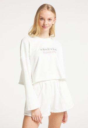 SET AUS SWEATWARE - Sweatshirt - wollweiss