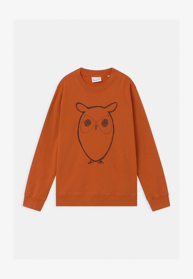 Knowledge Cotton Apparel - LOTUS OWL - Sweatshirt - orange