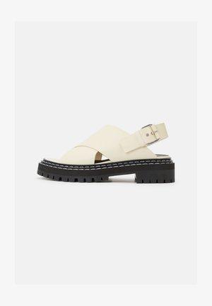 LUG SOLE - Korkeakorkoiset sandaalit - natural
