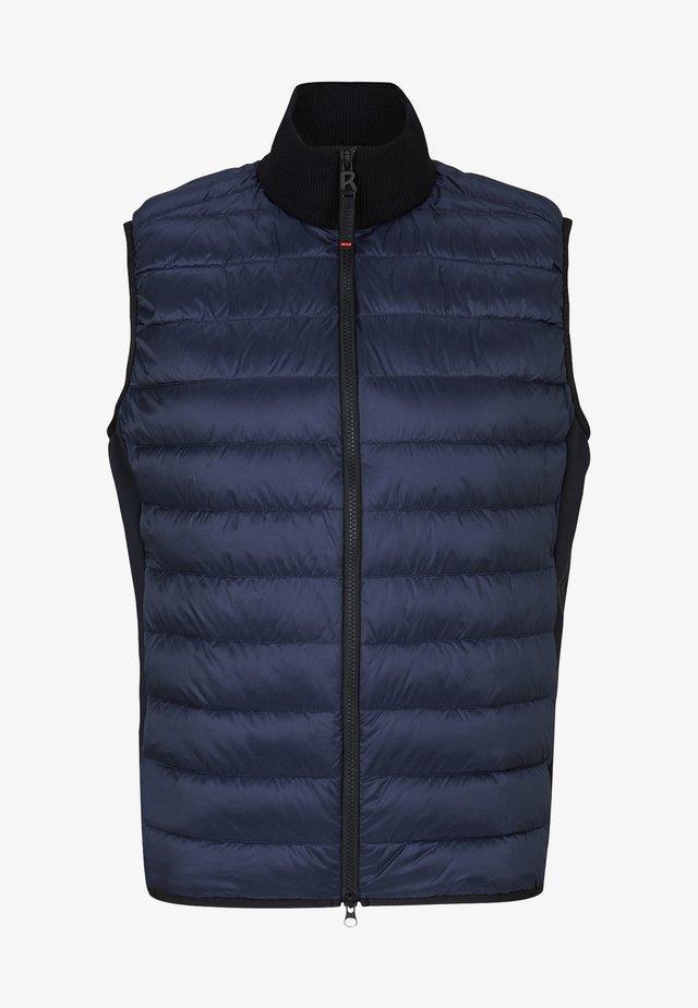 Waistcoat - navy-blau/schwarz