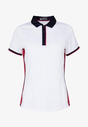 SWING TECH COLOUR BLOCK - Sports shirt - brilliant white