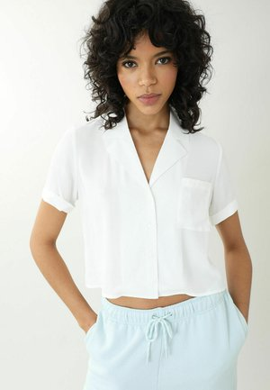 Button-down blouse - altweiß