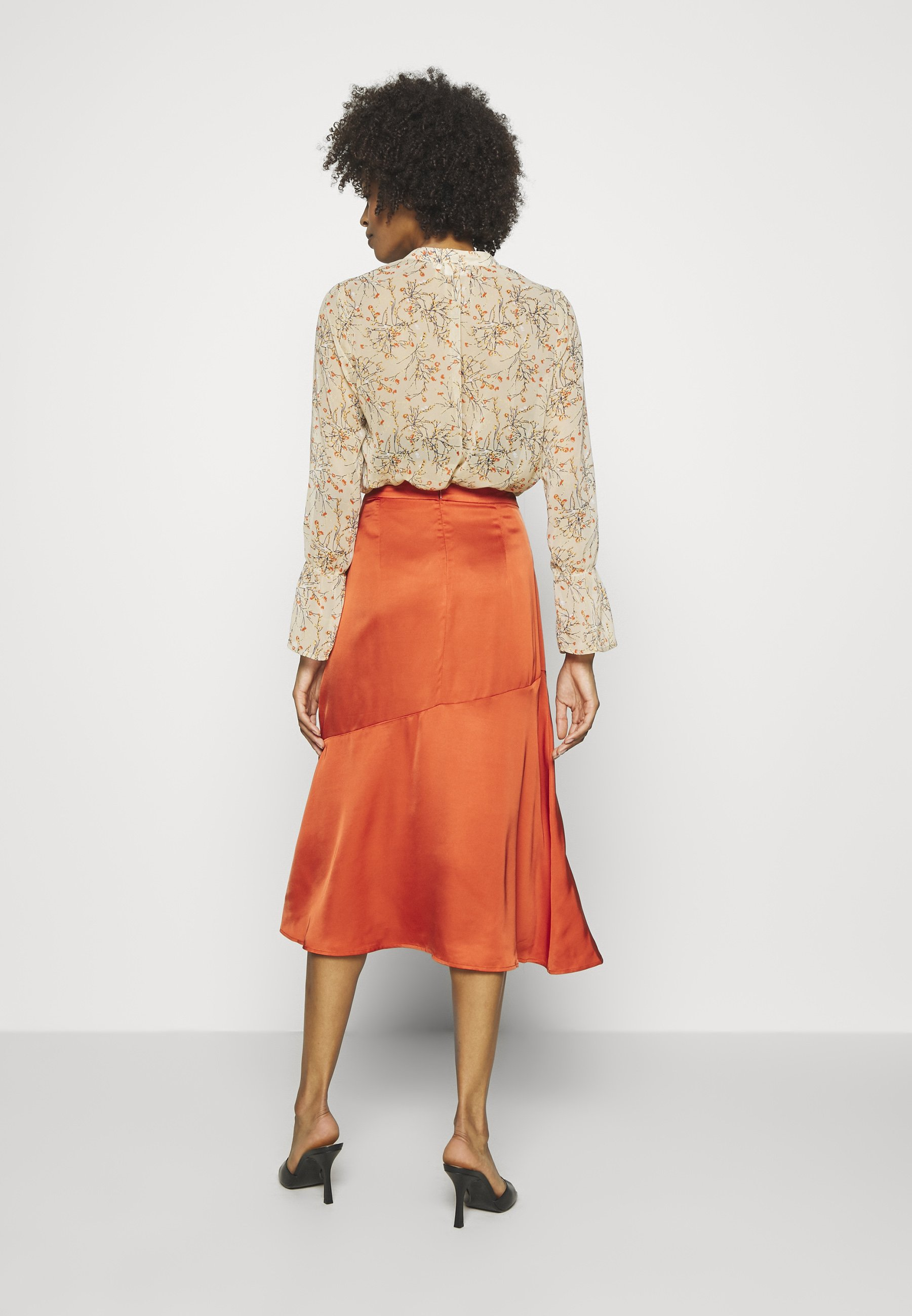 Karen by Simonsen BRENNAKB SOLID SKIRT - Jupe trapèze - orange rust - Jupes femme grgai