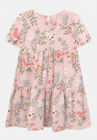 Lindex - MINI PUFFSLEEVE - Pletené šaty - light dusty pink - 0