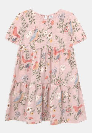 MINI PUFFSLEEVE - Gebreide jurk - light dusty pink