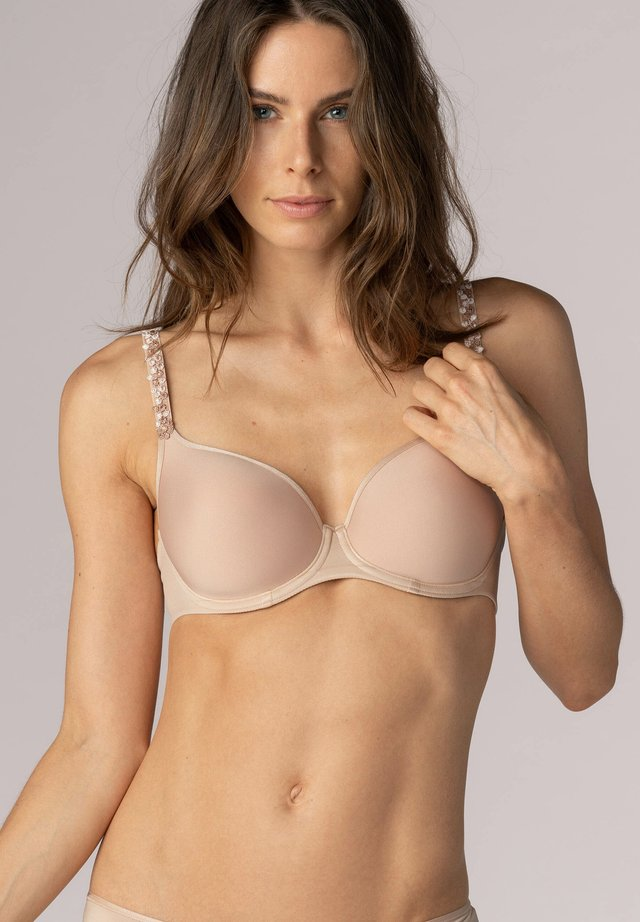 Underwired bra - cream tan