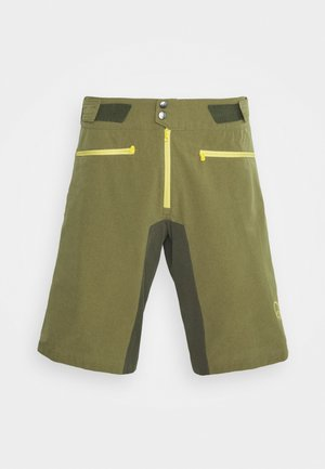 FJØRÅ FLEX LIGHTWEIGHT SHORTS - Korte broeken - olive night/lemon chrome