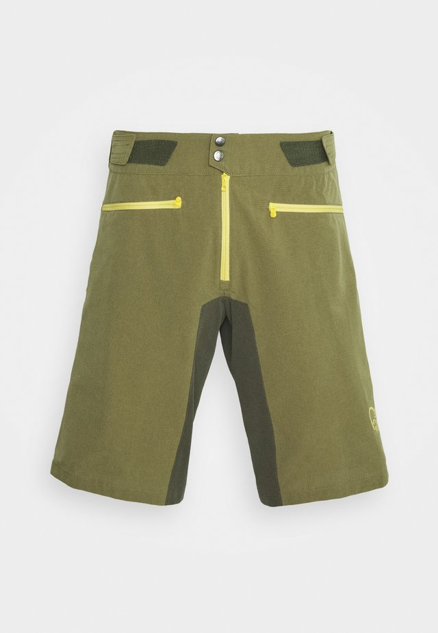 FJØRÅ FLEX LIGHTWEIGHT SHORTS - kurze Sporthose - olive night/lemon chrome