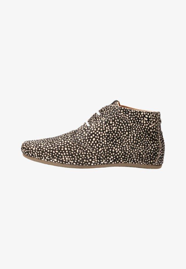 Lace-up ankle boots - pixel black
