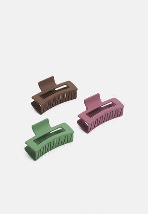 PCJIMO HAIRSHARK 3 PACK - Akcesoria do stylizacji włosów - bison/lime/arose