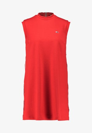 A LINE PIPING DRESS - Jersey dress - flame scarlet