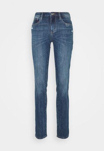 ALEXA - Slim fit jeans - used mid stone blue denim