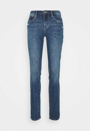 ALEXA - Džíny Slim Fit - used mid stone blue denim