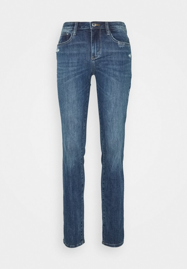 ALEXA - Jeans slim fit - used mid stone blue denim
