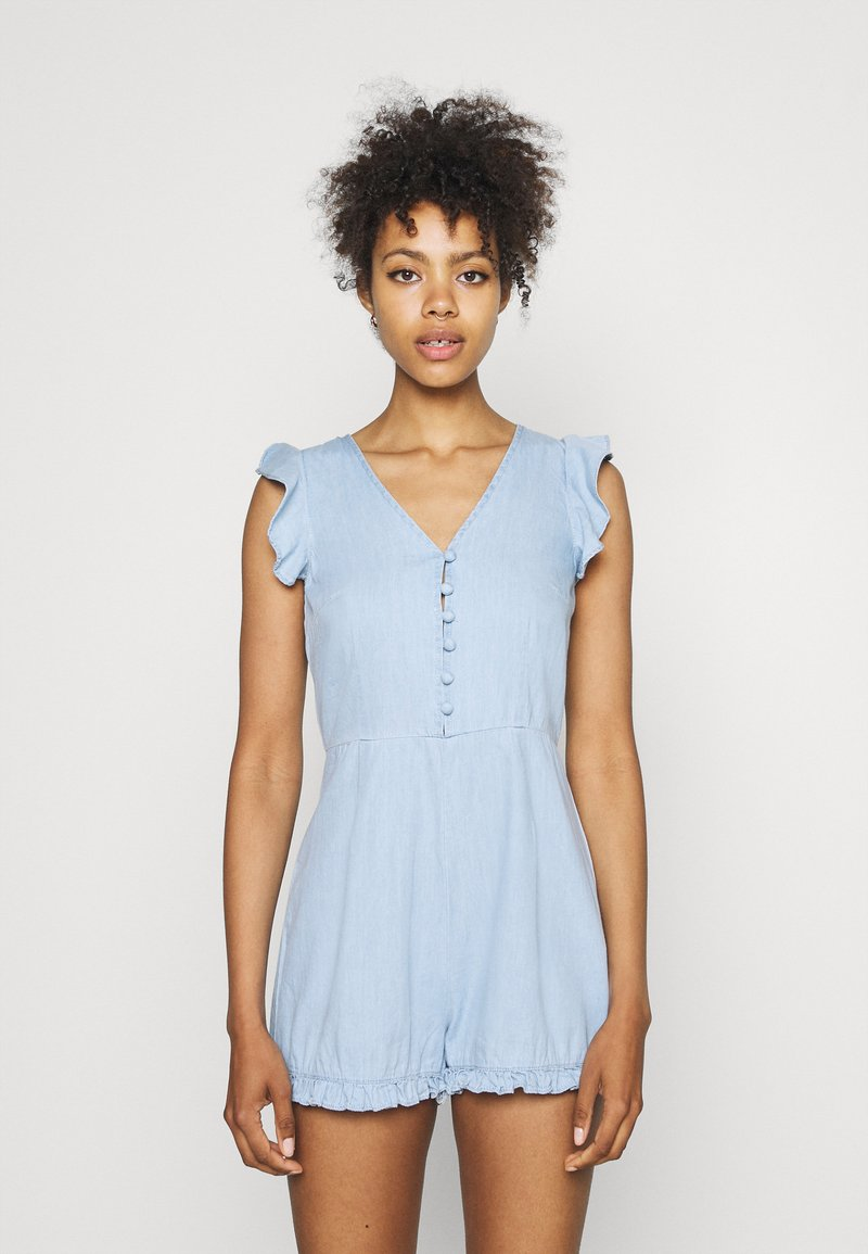 Missguided - BACKLESS - Overal - blue