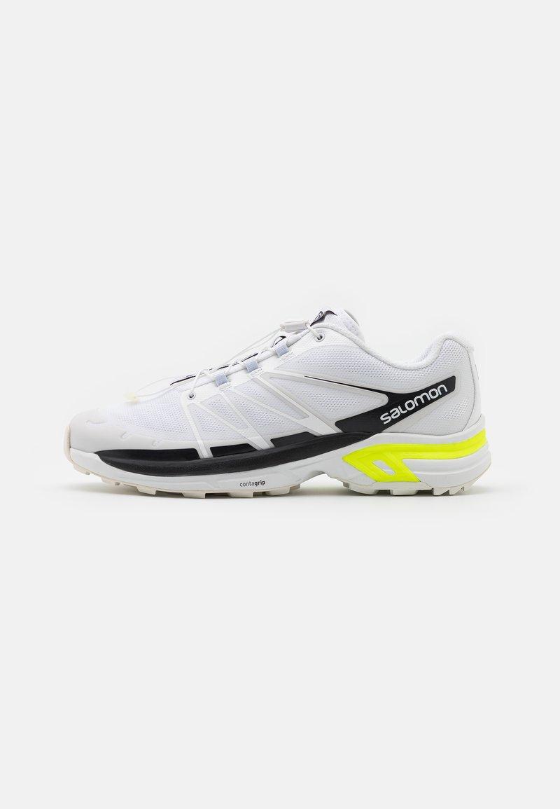 Salomon - XT WINGS 2 UNISEX - Trainers - white/ebony/safety yellow