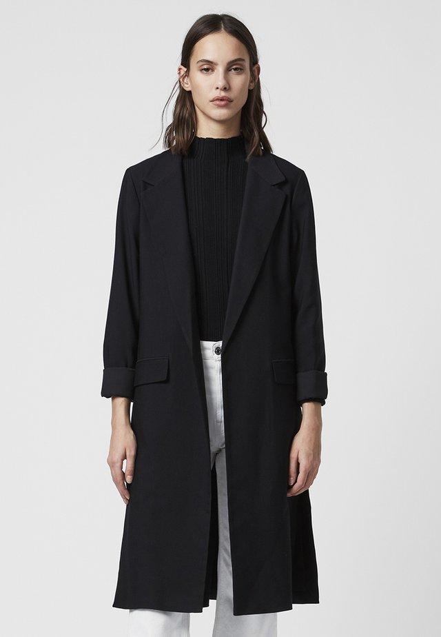 ALEIDA DUSTER - Halflange jas - black