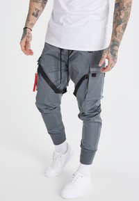 SIKSILK - COMBAT TECH CARGO PANTS - Cargo trousers - light grey - 0