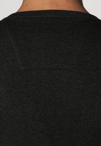 TOM TAILOR - Strikpullover /Striktrøjer - black grey melange - 4
