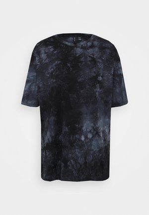 T-shirt med print - black/grey