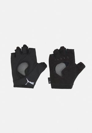 GYM GLOVES - Kortfingerhandsker - black