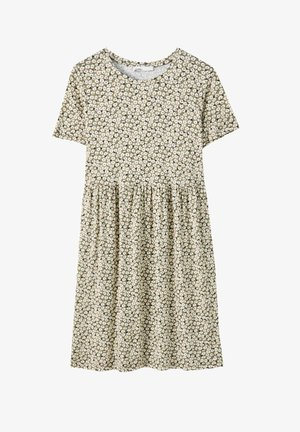 Day dress - mottled dark green