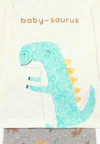 Carter's - DINO BABY SET - Kalhoty - heather - 5