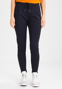 Vero Moda - VMEVA LOOSE STRING PANTS - Trousers - night sky - 0