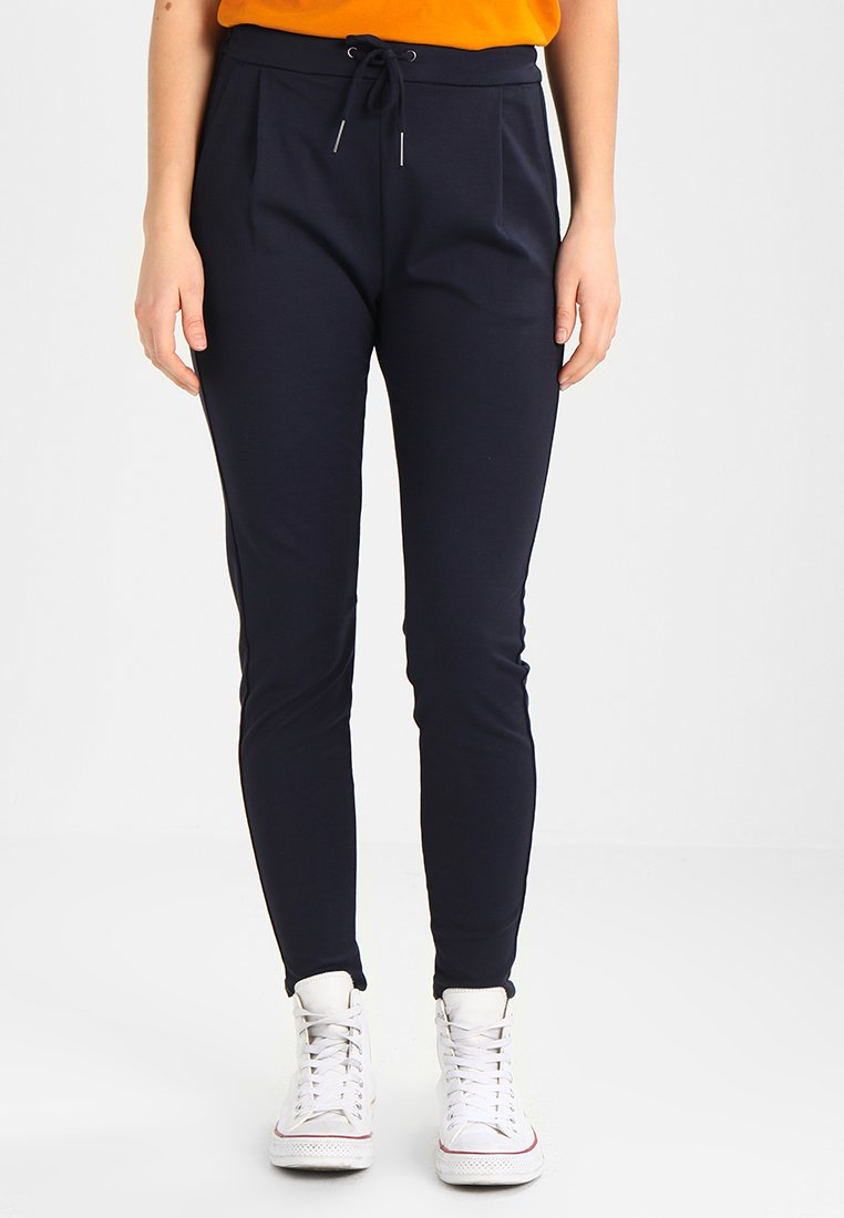 Vero Moda - VMEVA LOOSE STRING PANTS - Trousers - night sky