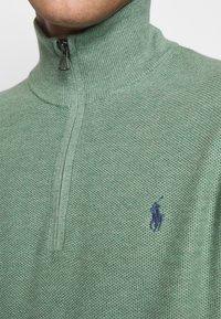 Polo Ralph Lauren - COTTON HALF-ZIP SWEATER - Stickad tröja - seafoam heather - 5