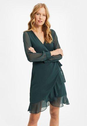 MET LUIPAARDDESSIN - Day dress - dark green